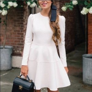 Gal Meets Glam Celeste Fit And Flare Dress: Cream